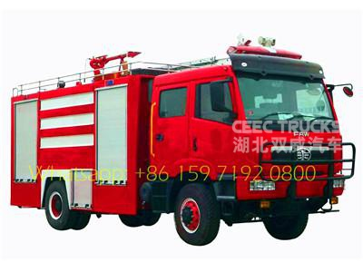 Kenya FAW brand 8000 liters firefighting trucks