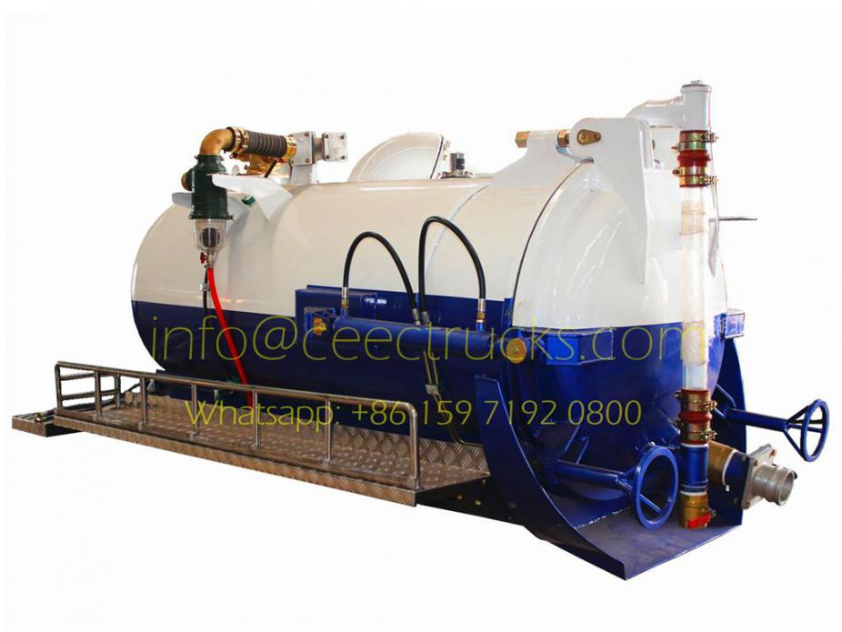 Export model 2000 liters vacuum suction superstructure