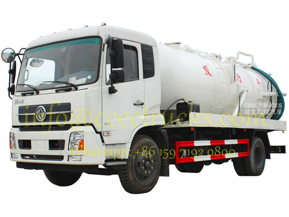 Dongfeng / ISUZU vacuum sewage suction truck 12cbm withe colour for UN