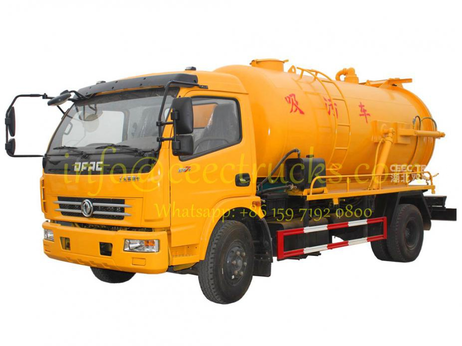 Dongfeng 6000liters vacuum suction tanker truck supplier