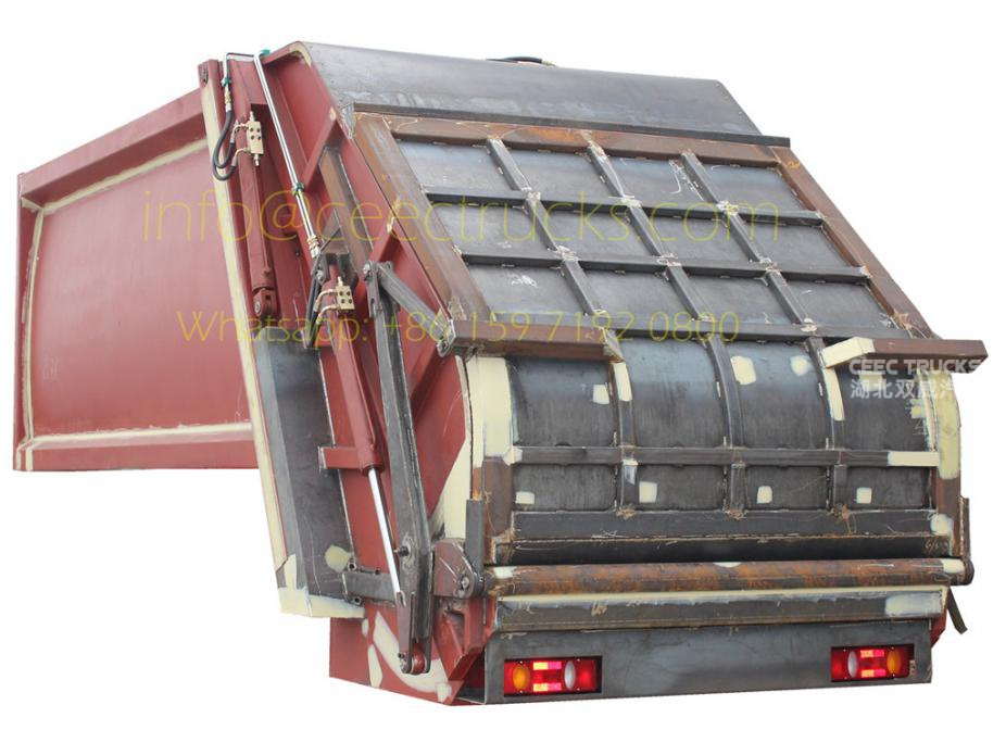 Manufacture Supply 18000 Liters refuse compressed vehicle up-body
