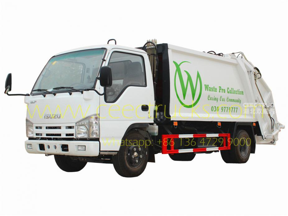 ISUZU 5cbm refuse compressed truck