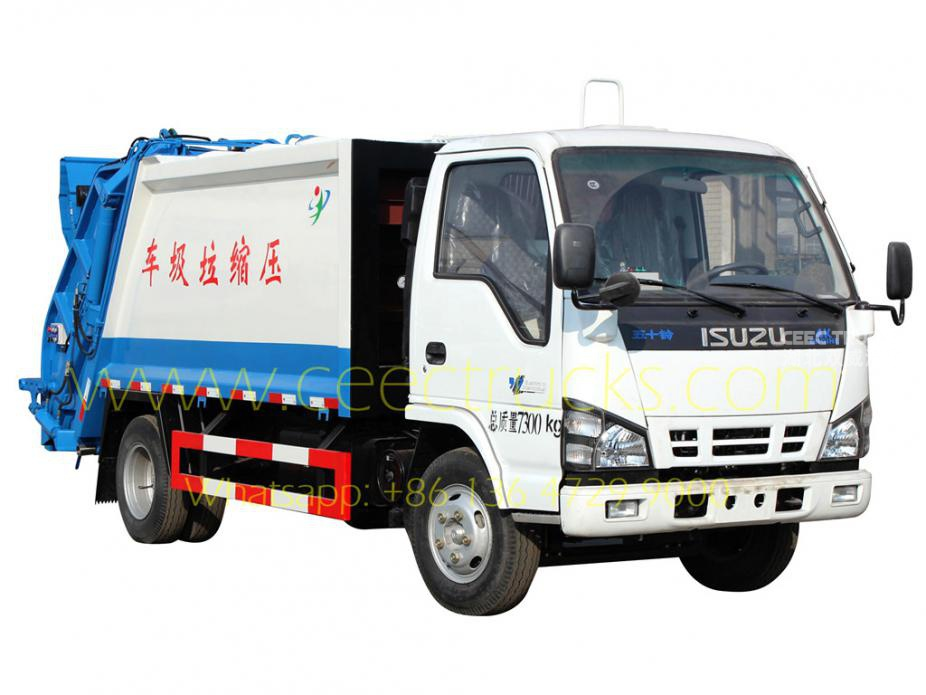 ISUZU 5000L refuse compactor truck supplier