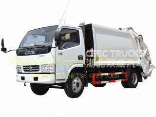 Chine dongfeng 6 cbm garbage compacteur camion