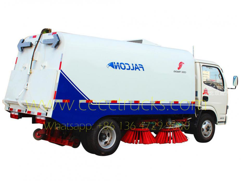 Dongfeng 4000L road sweeper low price sale