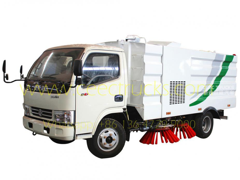 Dongfeng 4000L road sweeper truck