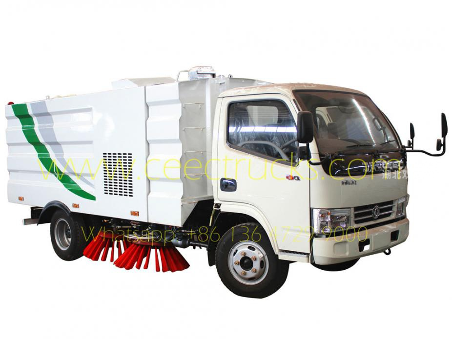 Dongfeng 4000L road sweeper truck on sale