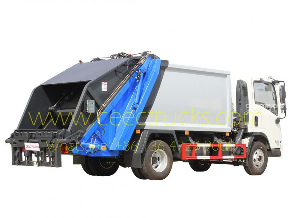 FAW 5000L garbage compactor truck for sale