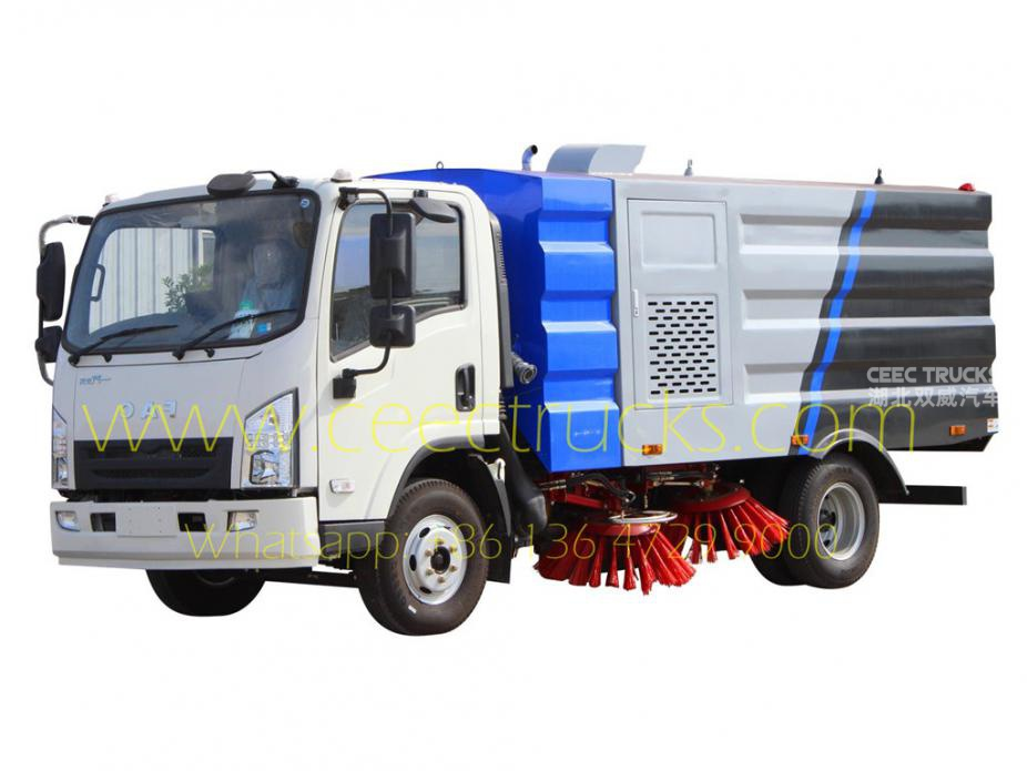 FAW 5CBM road sweeper truck low price