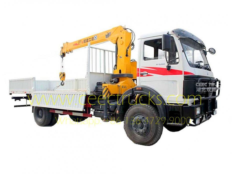 BEIBEN 5 T truck mounted crane lorry trucks