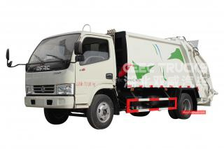 dongfeng 5000liters refuse camion compacteur