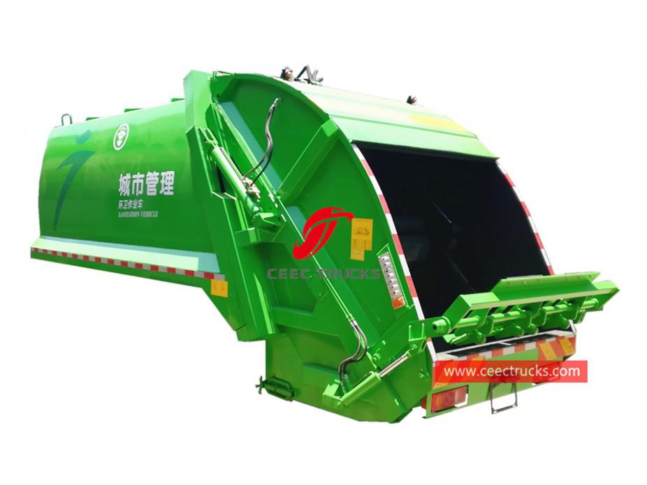 european standard 10,000 liters compressed garbage truck body