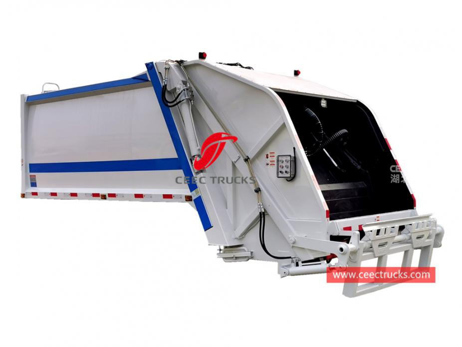 Good quality 8,000 liters compression waste truck body