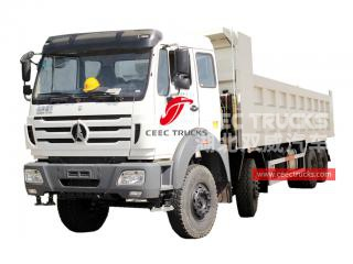 camion benne lourde north benz 8x4