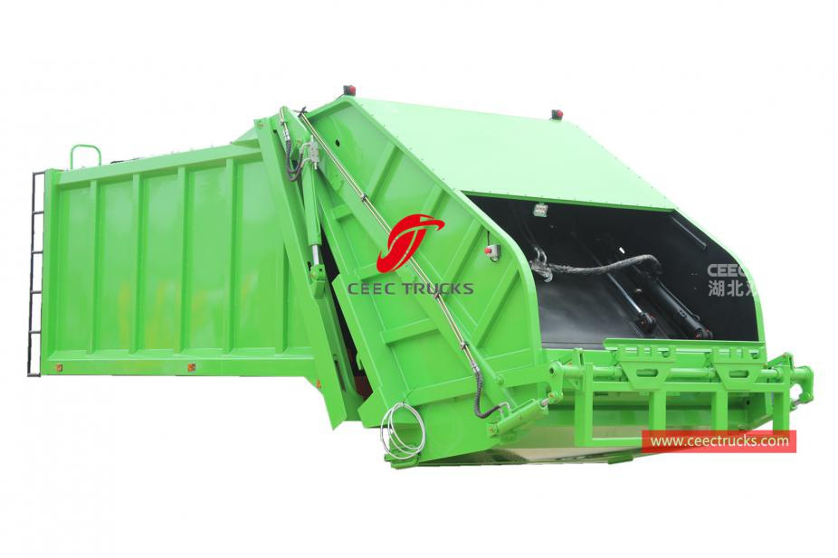 High quality 12,000 liters waste compactor truck body kit