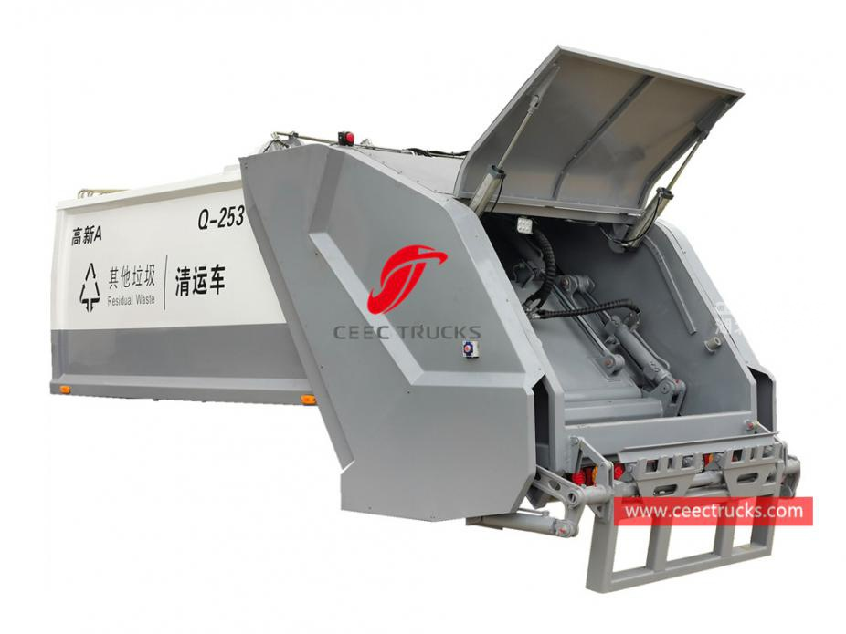 New designed 6,000 liters refuse compression truck body