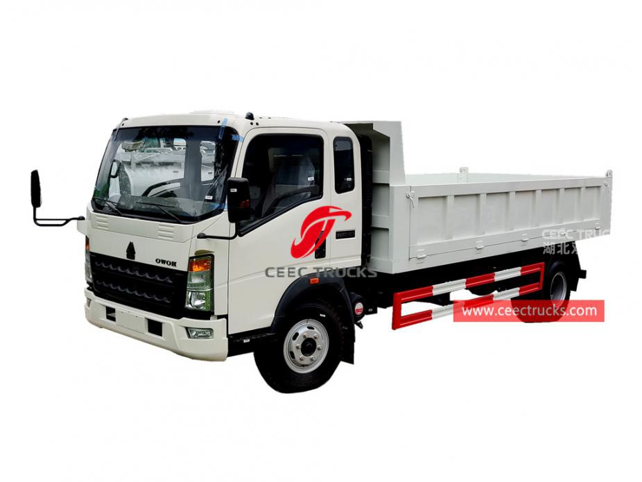 HOWO RHD light duty tipper truck