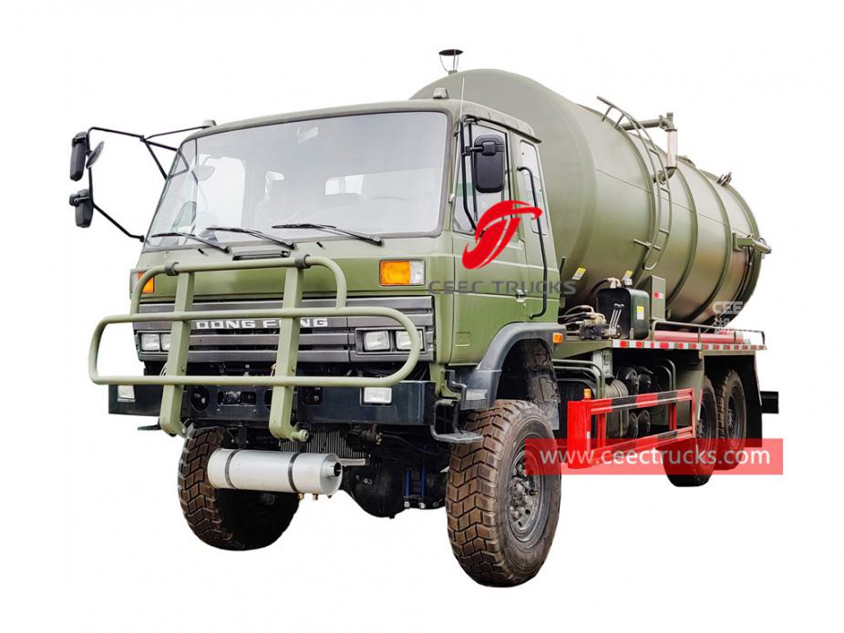 Dongfeng all wheel drive vacuum tanker truck