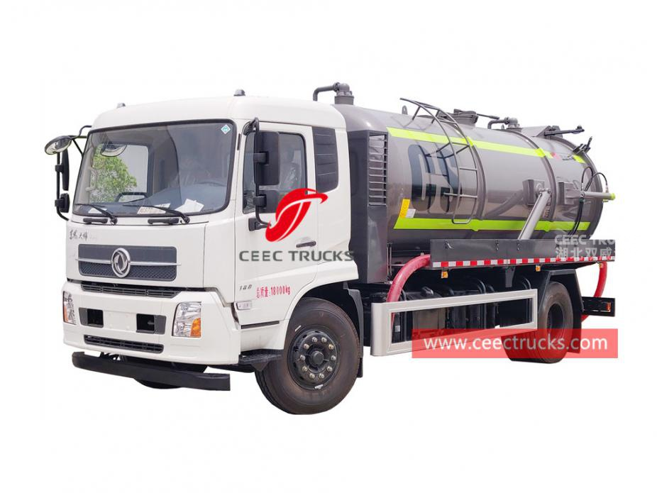 Dongfeng 12,000 liters vacuum suction truck