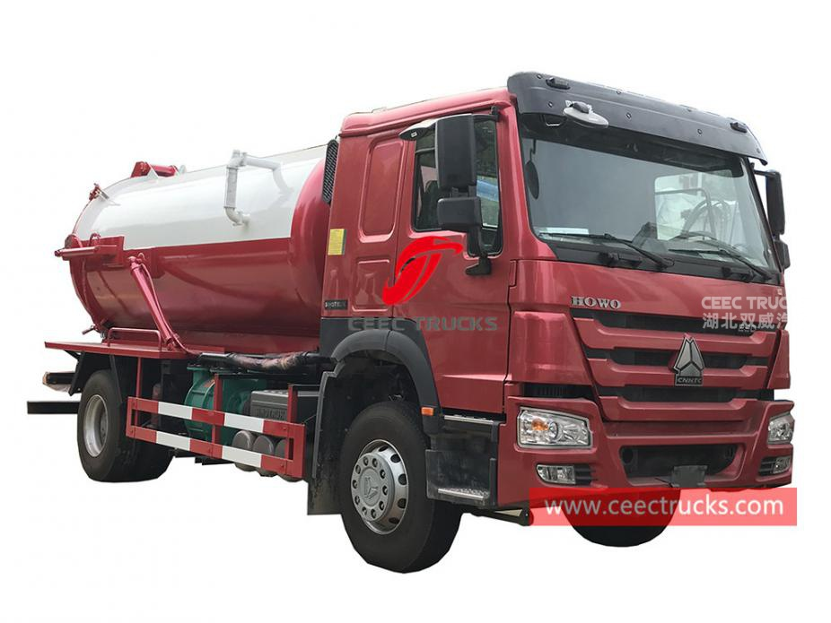 HOWO 4×2 right hand drive vacuum tanker truck