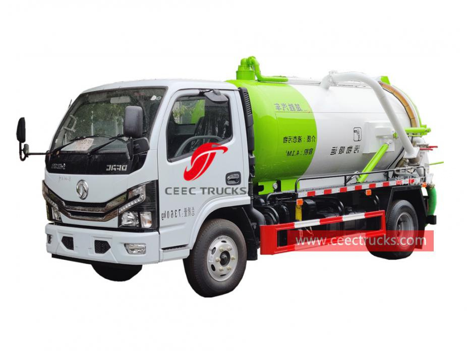 Dongfeng 4×2 vacuum suction truck
