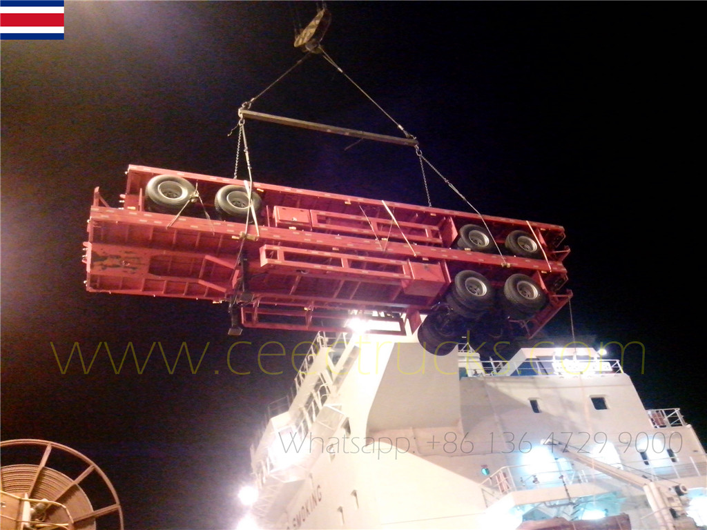 Costa Rica clients commandés 10 unités bogie suspension semi-remorque